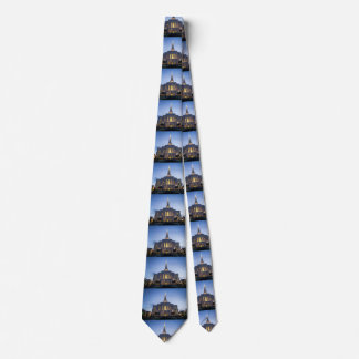 Gilbert Temple at sunset Tie