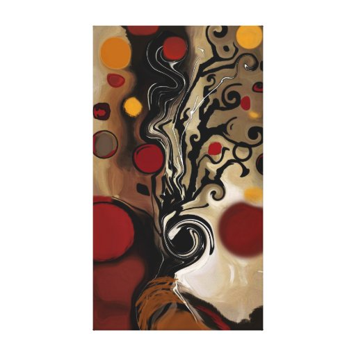 Gilbert the Tree - Abstract Gallery Wrapped Canvas