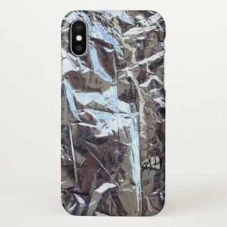 gilded aluminum foil iPhone x case