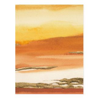 Gilded Amber I v2 Abstract Print Postcard