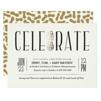 Gilded Celebrate The Peanut Baby Shower Invitation