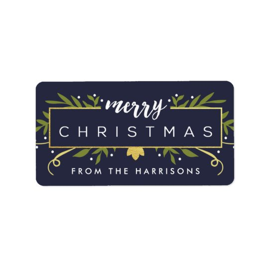 Gilded Christmas Personalised Gift Tags