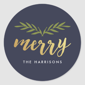 Gilded Christmas Personalized Stickers