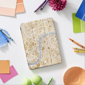 Gilded City Map Of London iPad Air Cover