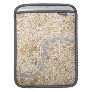 Gilded City Map Of London iPad Sleeve