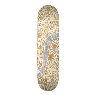 Gilded City Map Of London Skate Decks