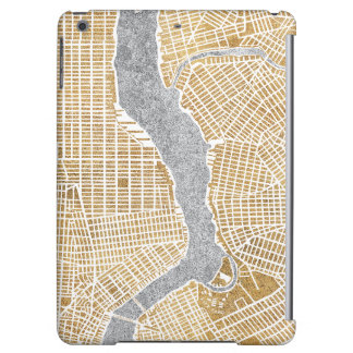 Gilded City Map Of New York