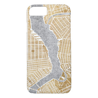Gilded City Map Of New York iPhone 8/7 Case