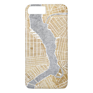 Gilded City Map Of New York iPhone 8 Plus/7 Plus Case