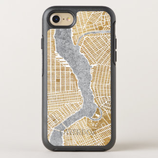 Gilded City Map Of New York OtterBox Symmetry iPhone 8/7 Case