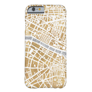 Gilded City Map Of Paris Barely There iPhone 6 Case