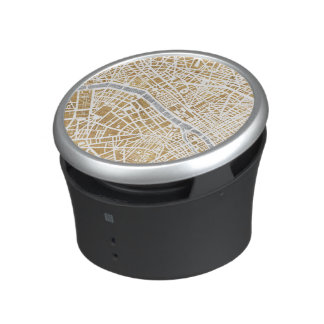 Gilded City Map Of Paris Bluetooth Speaker