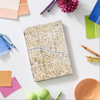 Gilded City Map Of Paris iPad Air Cover