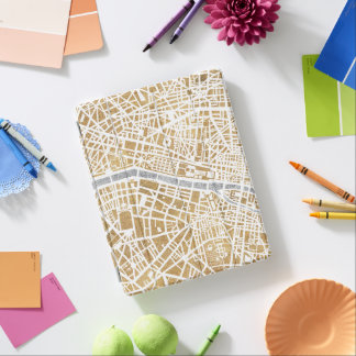 Gilded City Map Of Paris iPad Cover