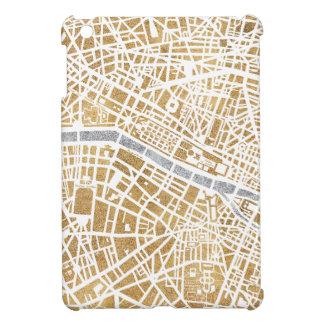 Gilded City Map Of Paris iPad Mini Cover