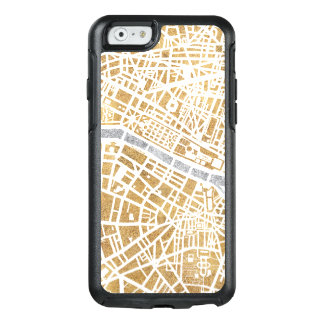 Gilded City Map Of Paris OtterBox iPhone 6/6s Case