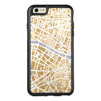 Gilded City Map Of Paris OtterBox iPhone 6/6s Plus Case