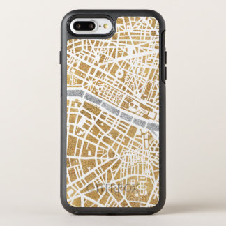Gilded City Map Of Paris OtterBox Symmetry iPhone 8 Plus/7 Plus Case