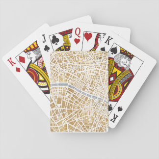 Gilded City Map Of Paris Playing Cards
