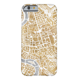 Gilded City Map Of Rome Barely There iPhone 6 Case