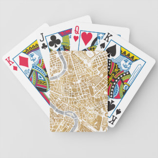 Gilded City Map Of Rome Bicycle Playing Cards