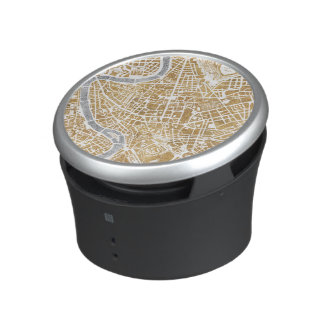 Gilded City Map Of Rome Bluetooth Speaker
