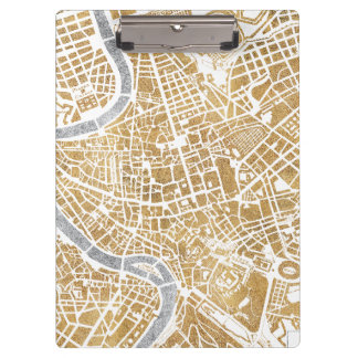 Gilded City Map Of Rome Clipboard