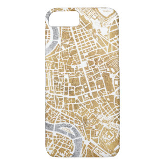 Gilded City Map Of Rome iPhone 8/7 Case