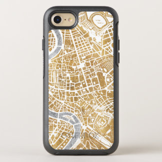 Gilded City Map Of Rome OtterBox Symmetry iPhone 8/7 Case