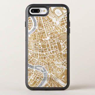 Gilded City Map Of Rome OtterBox Symmetry iPhone 8 Plus/7 Plus Case