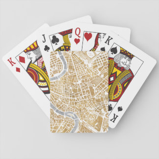 Gilded City Map Of Rome Playing Cards