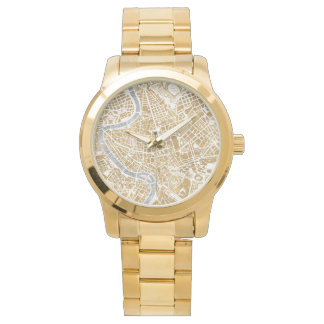 Gilded City Map Of Rome Watch