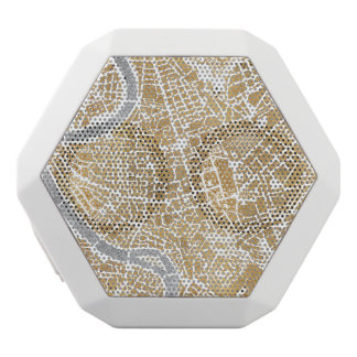 Gilded City Map Of Rome White Bluetooth Speaker