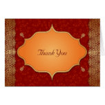 Gilded Edge Indian Frame Wedding Thank You Note Card