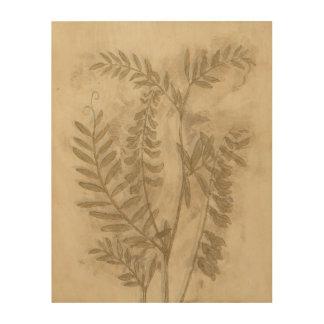Gilded Foliage I Wood Print