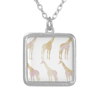 Gilded Giraffes 1 Silver Plated Necklace