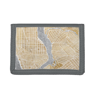 Gilded New York Map 6 Trifold Wallet