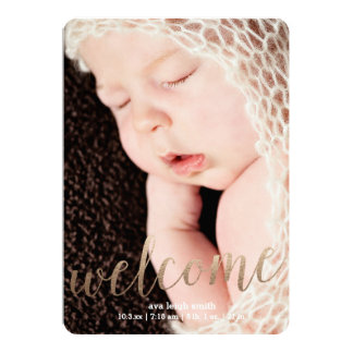 Gilded Welcome Faux Gold | Birth Announcement