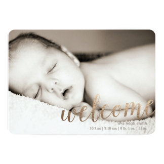 Gilded Welcome Gold | Custom Birth Announcement