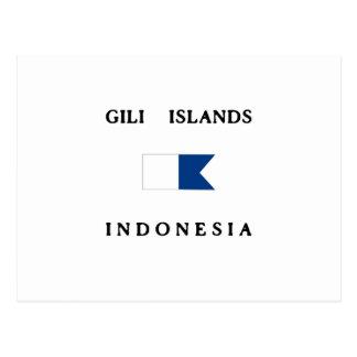 Gili Islands Indonesia Alpha Dive Flag Postcard