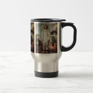 Gilles By Watteau Antoine Travel Mug