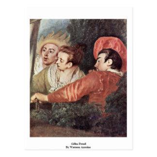 Gilles Detail By Watteau Antoine Postcard