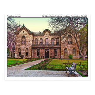 Gillespie Co. Courthouse (old), Fredericksburg, TX Postcard