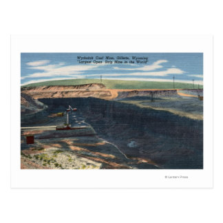 Gillette, WY - Wydodak Coal Mine View Postcard