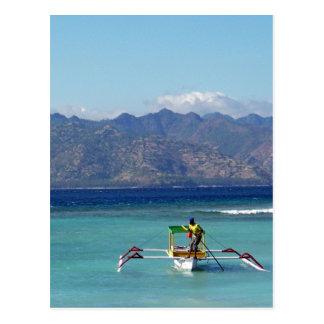 Gilli Islands Boat Postcard