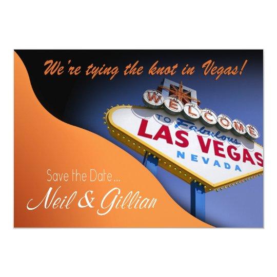 Gillian's Custom Las Vegas Save The Date Card