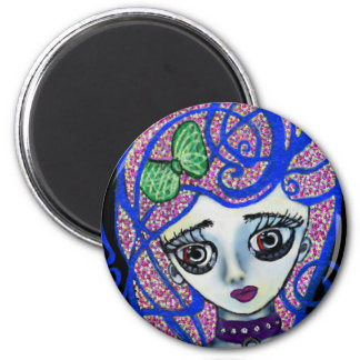 Gilly the Sad Emo 6 Cm Round Magnet