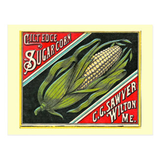 Gilt Edge Sugar Corn Vintage Crate Label Postcard