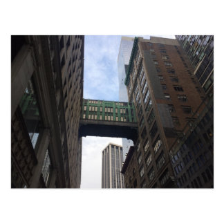 Gimbels Sky Bridge Midtown Manhattan NYC Postcard