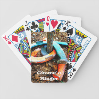 Gimme' a Ringer Horseshoe Pitching Gifts Bicycle Playing Cards
